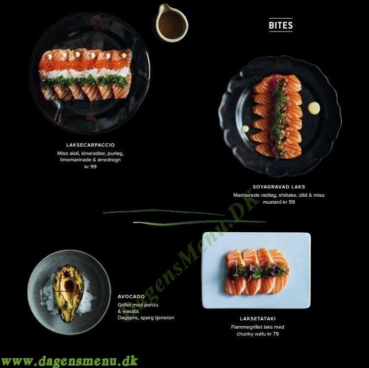 Sticks n Sushi København S - Menukort