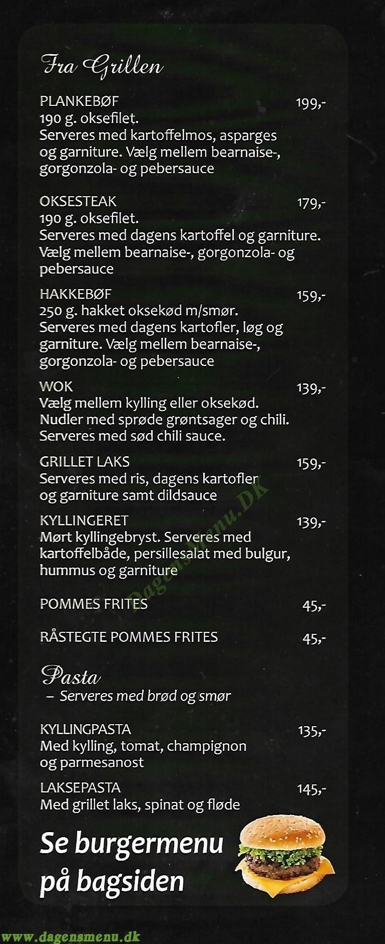Cafe Emil Menukort