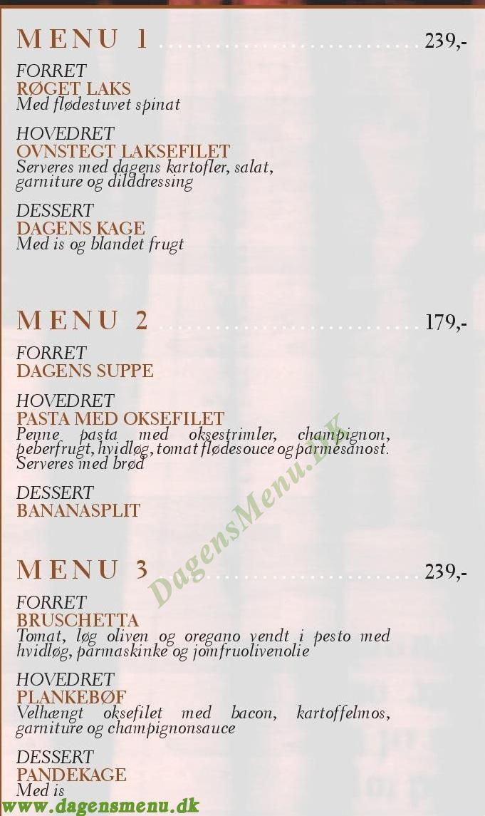 Cafe Felix - Menukort