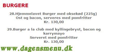 Restaurant Leonora - Menukort