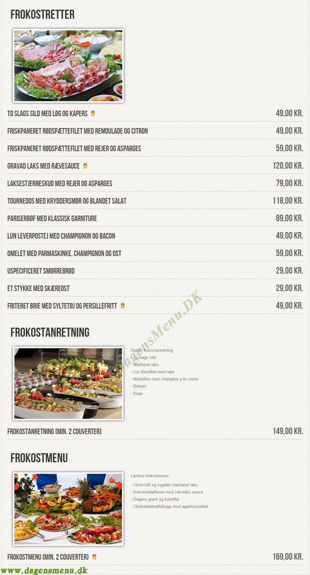 Restaurant Ellegården - Menukort