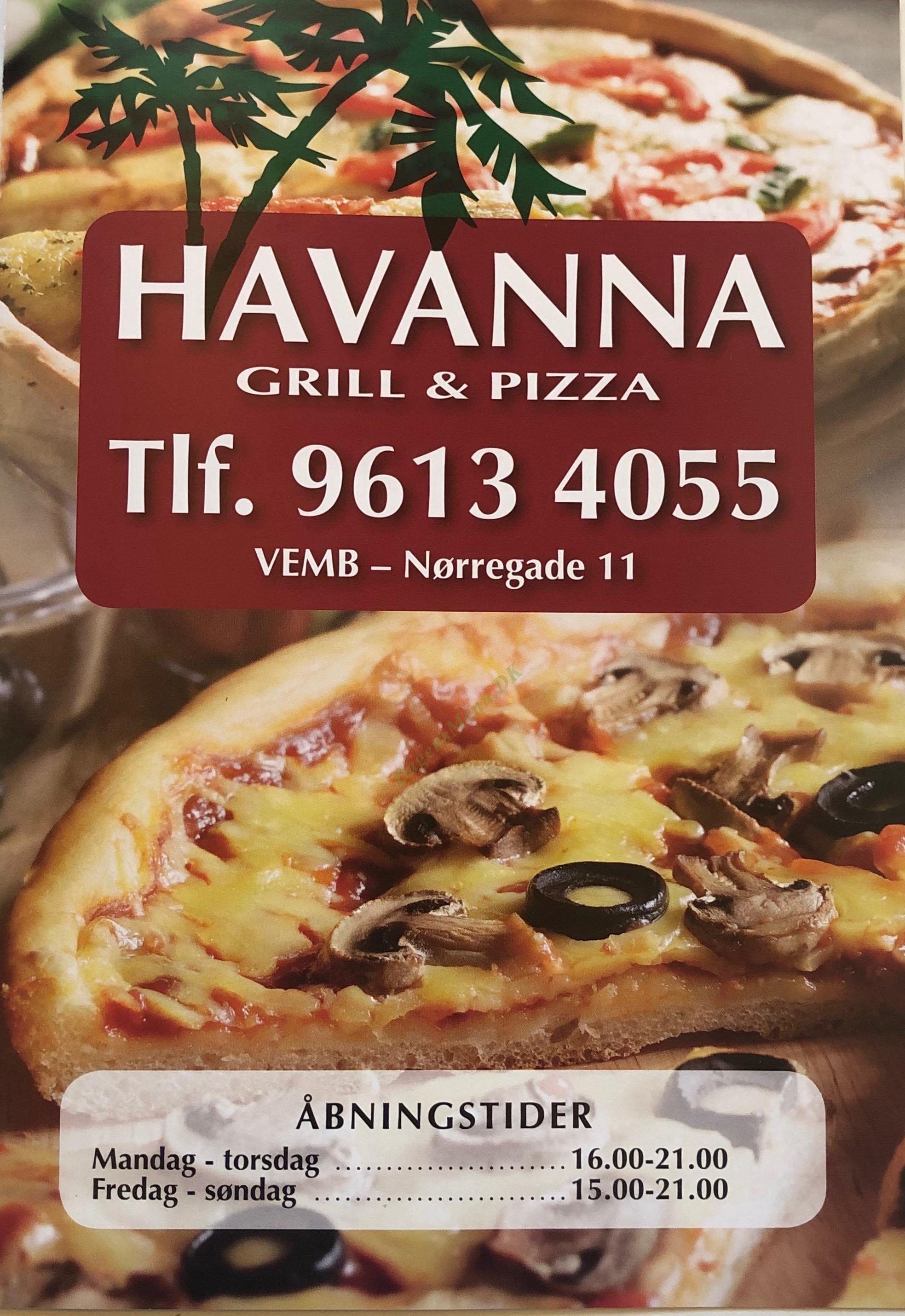 Havanna Pizza Bar - Menukort