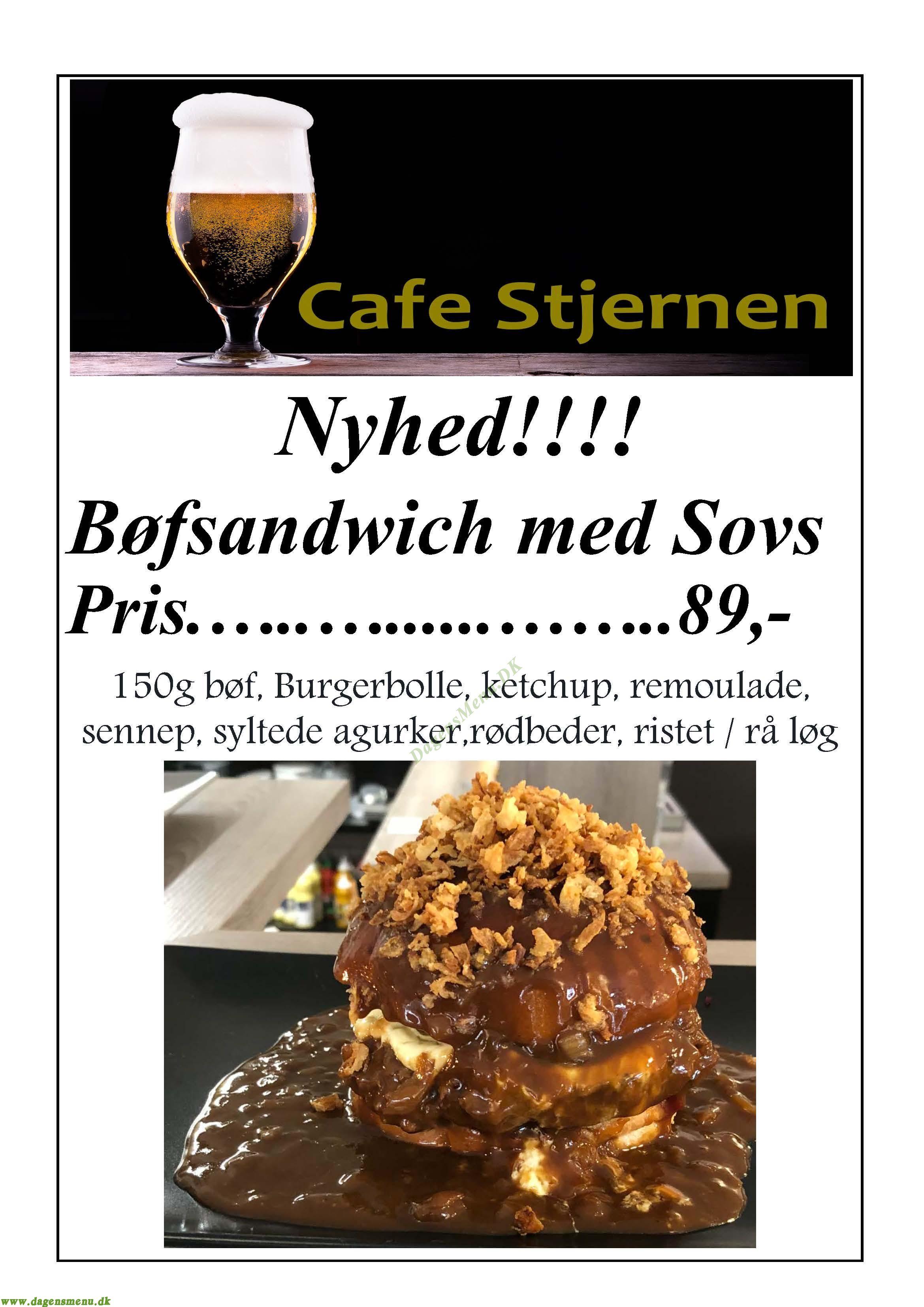 Cafe Stjernen - Menukort