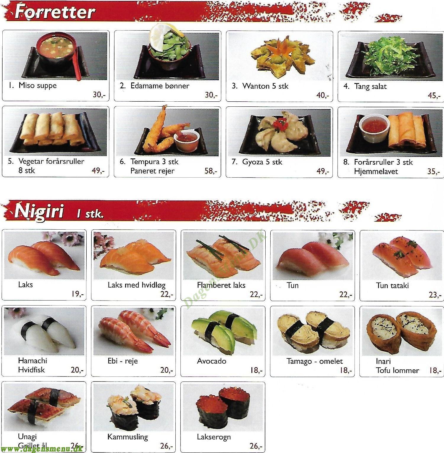 Edomae Sushi - Menukort
