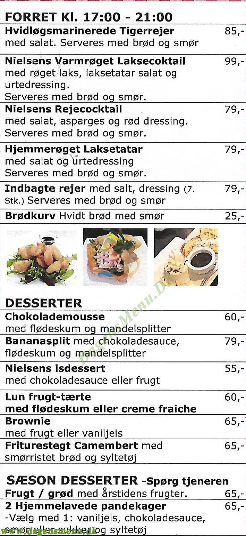 Restaurant & Cafe Nielsen - Menukort