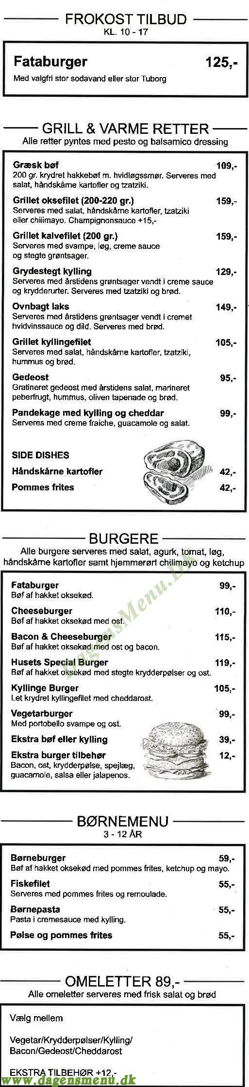 Cafe Fatamorgana - Menukort