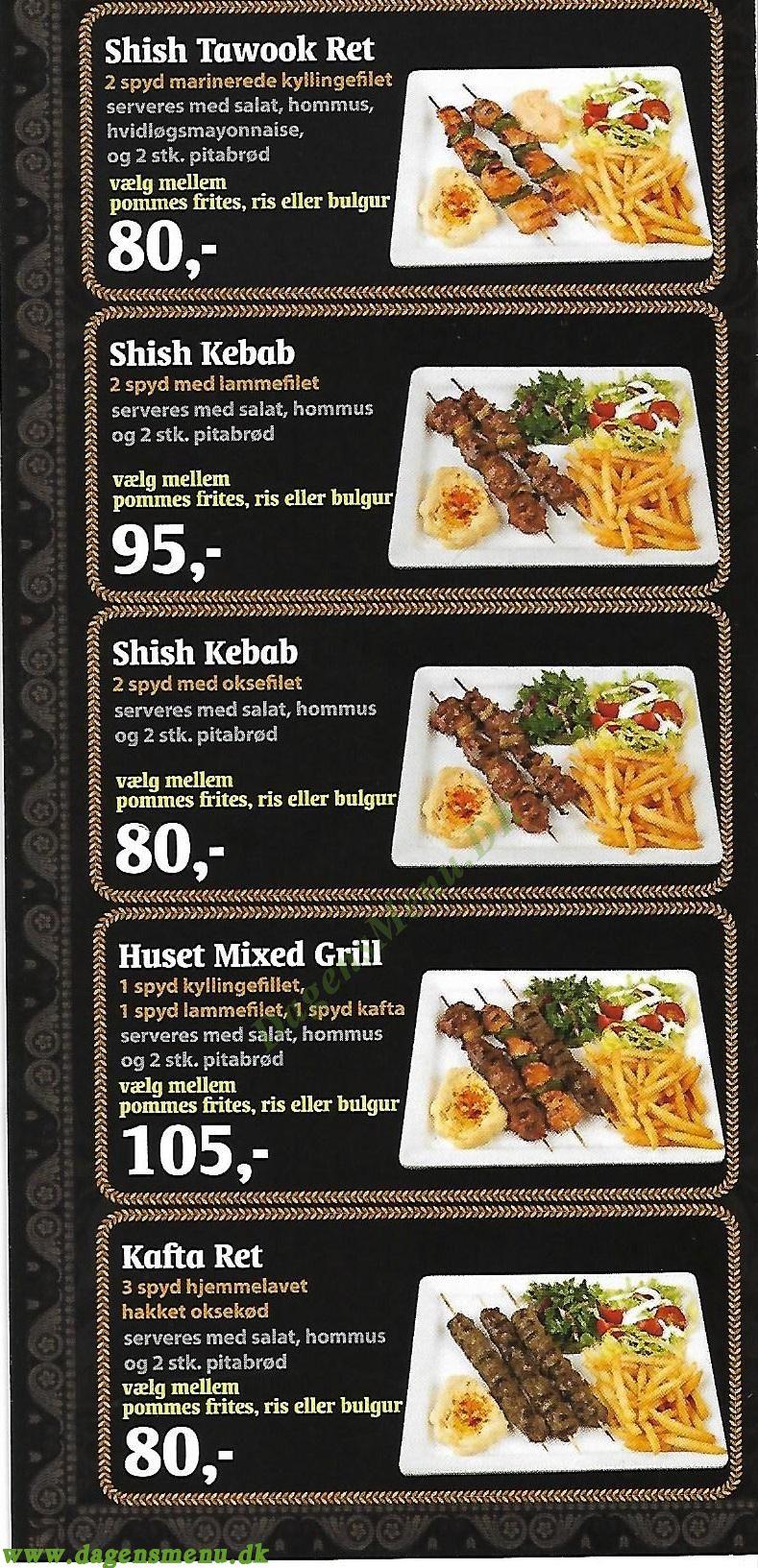 Shawarma Grill-House Nørrebro - Menukort