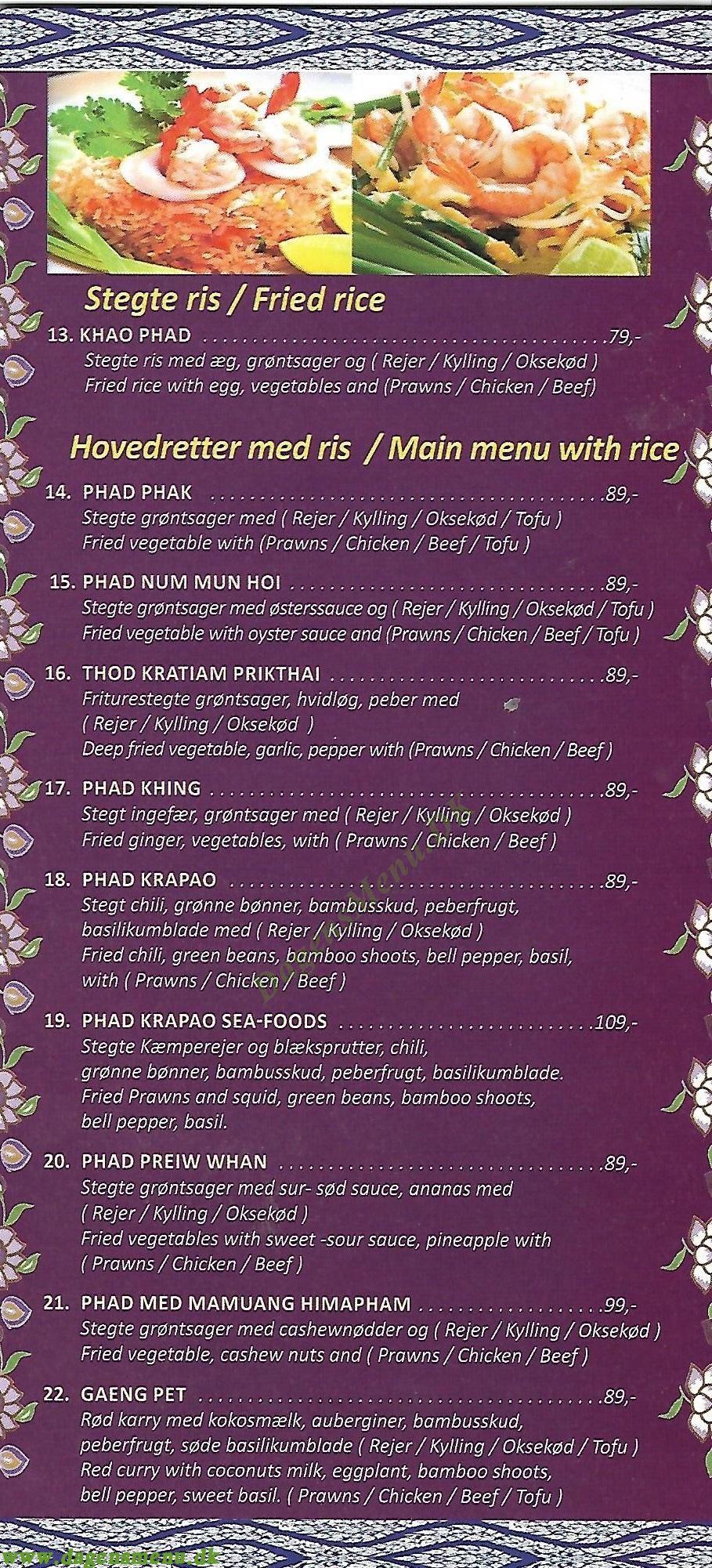 Thai Chilli - Menukort