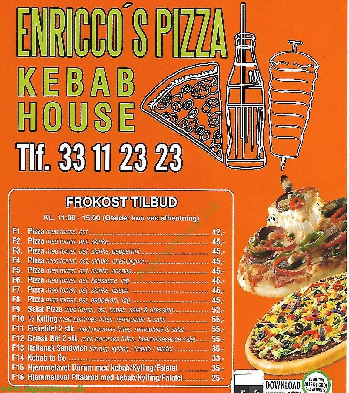 Enricco Pizza & Kebab - Menukort
