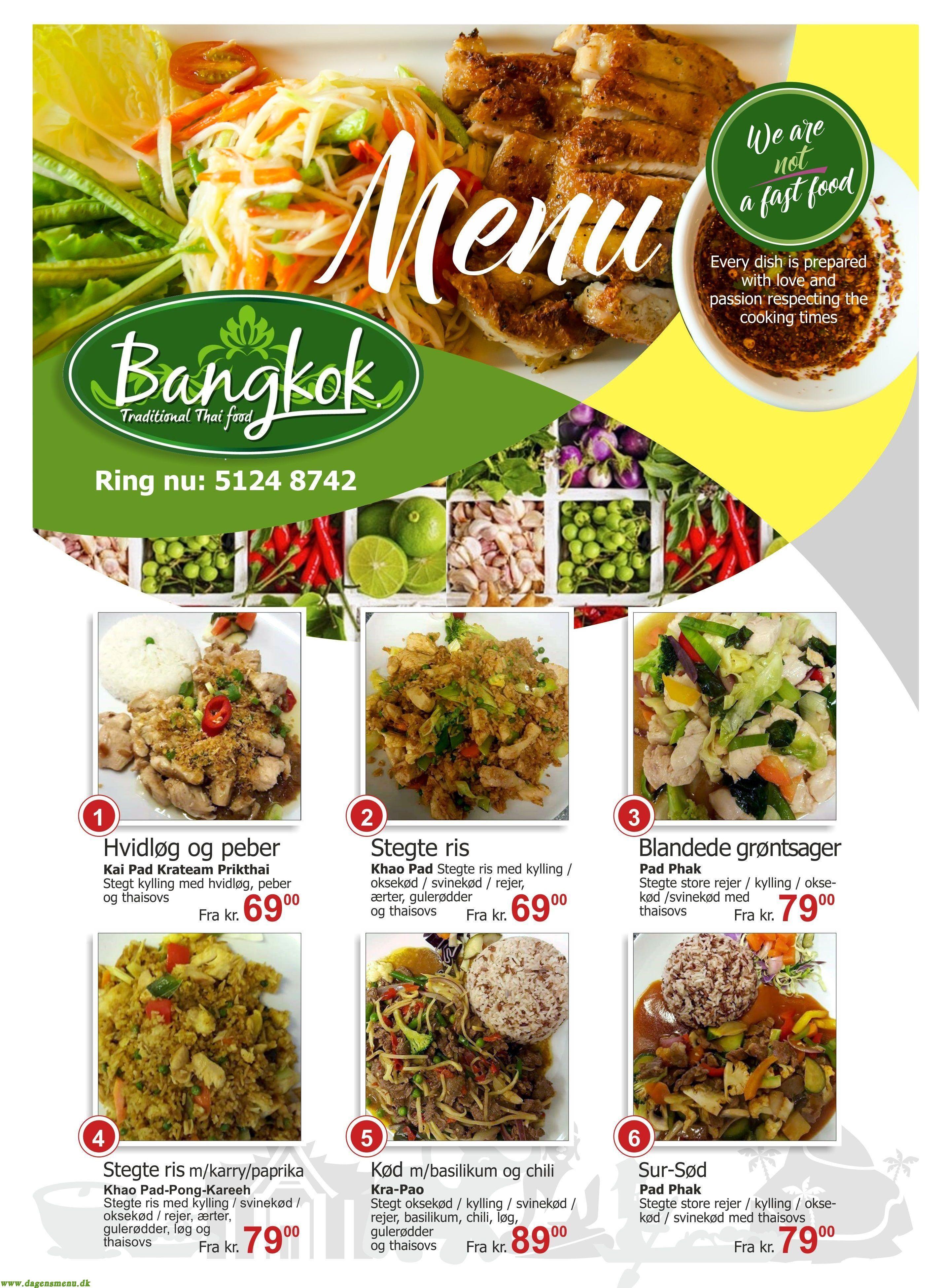 Bangkok Thai  Take Away - Menukort
