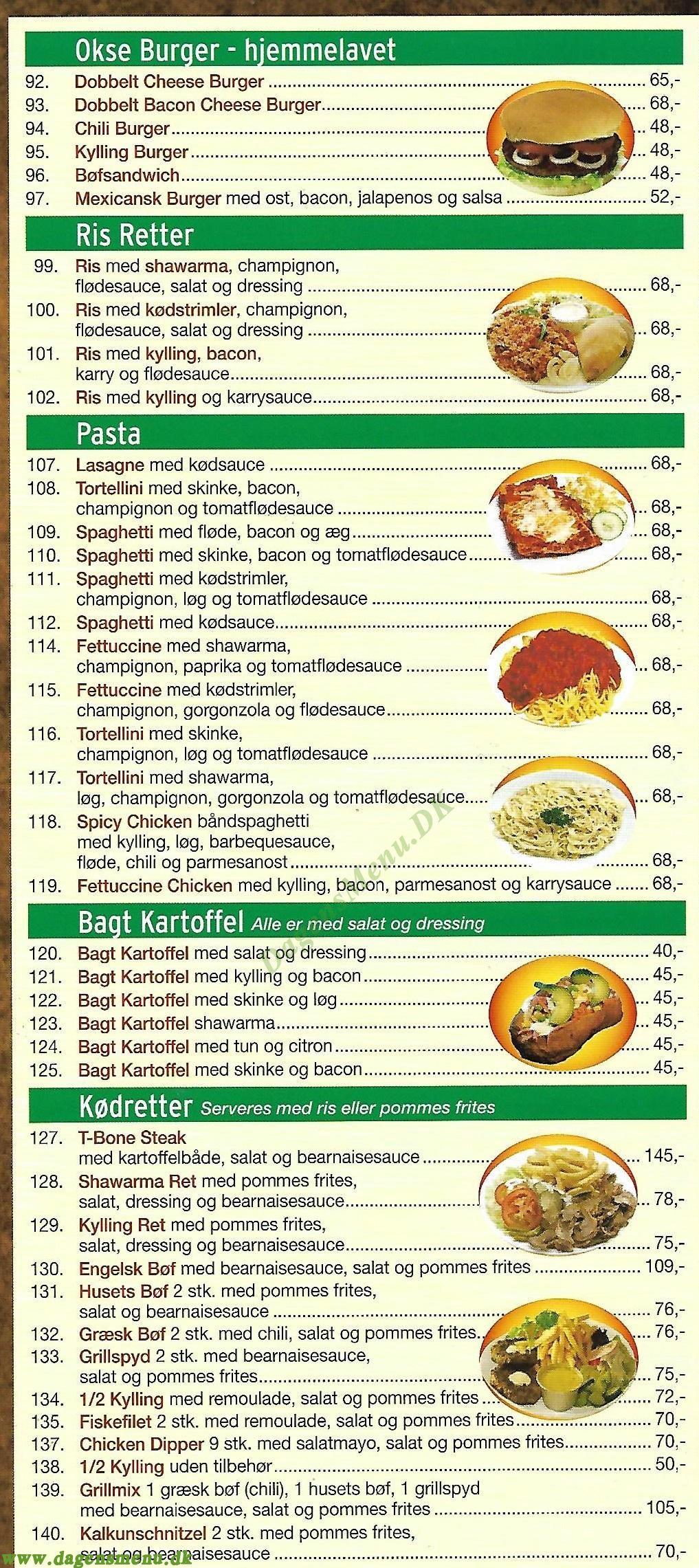 Ålholm Pizza & Grill - Menukort