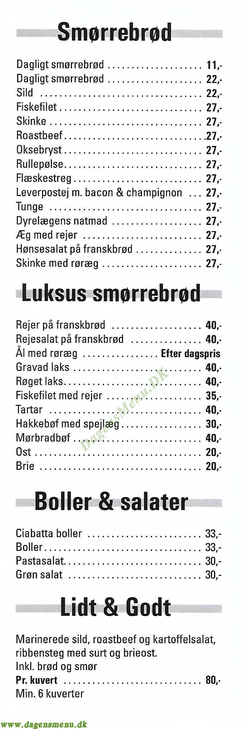 Brøndby Slagteren - - Menukort