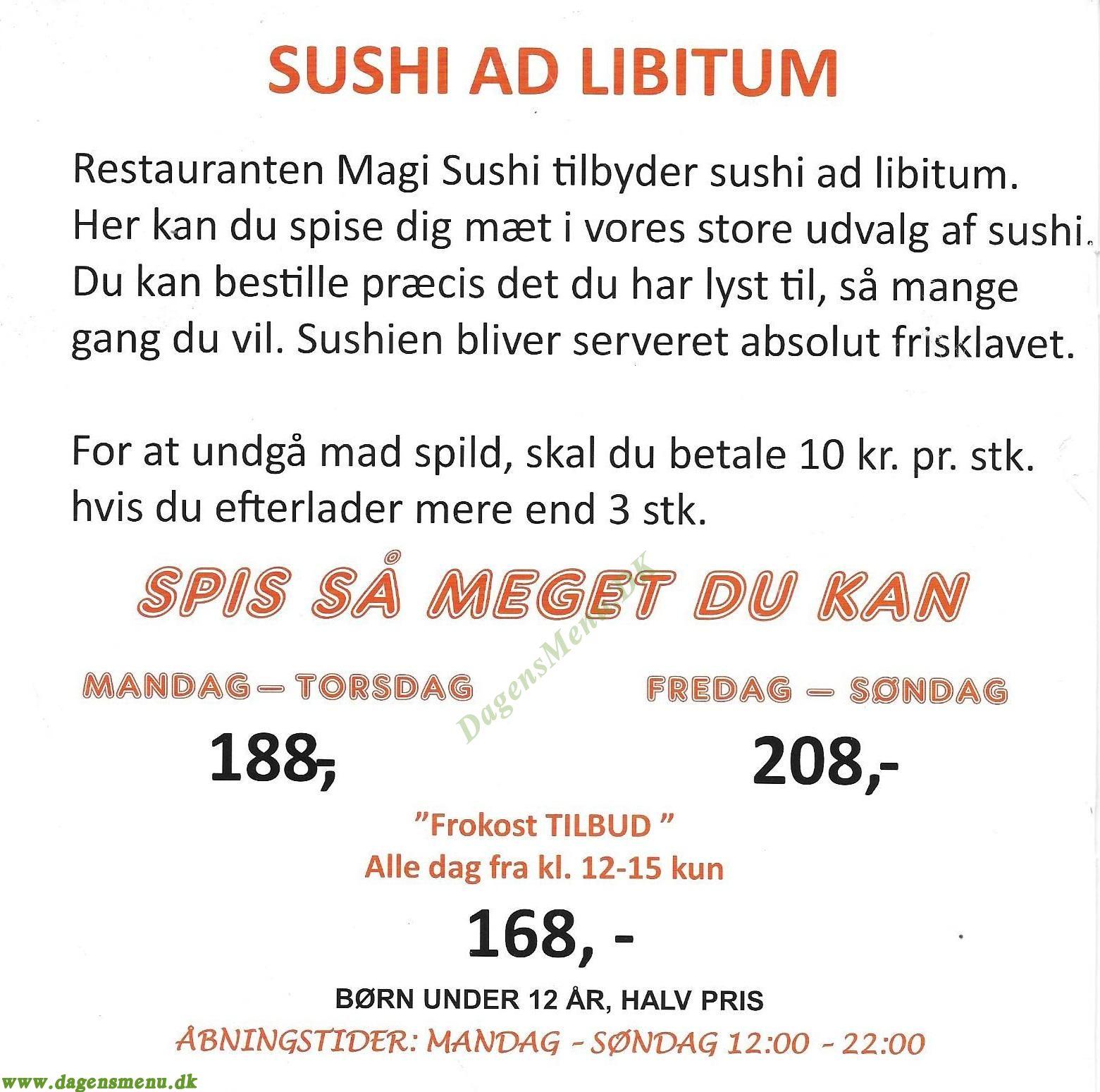 Magi Sushi - Menukort
