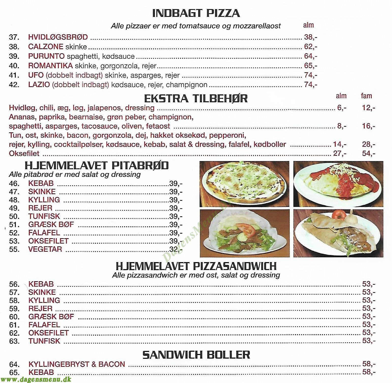 Haslev Grill & Pizzeria - Menukort