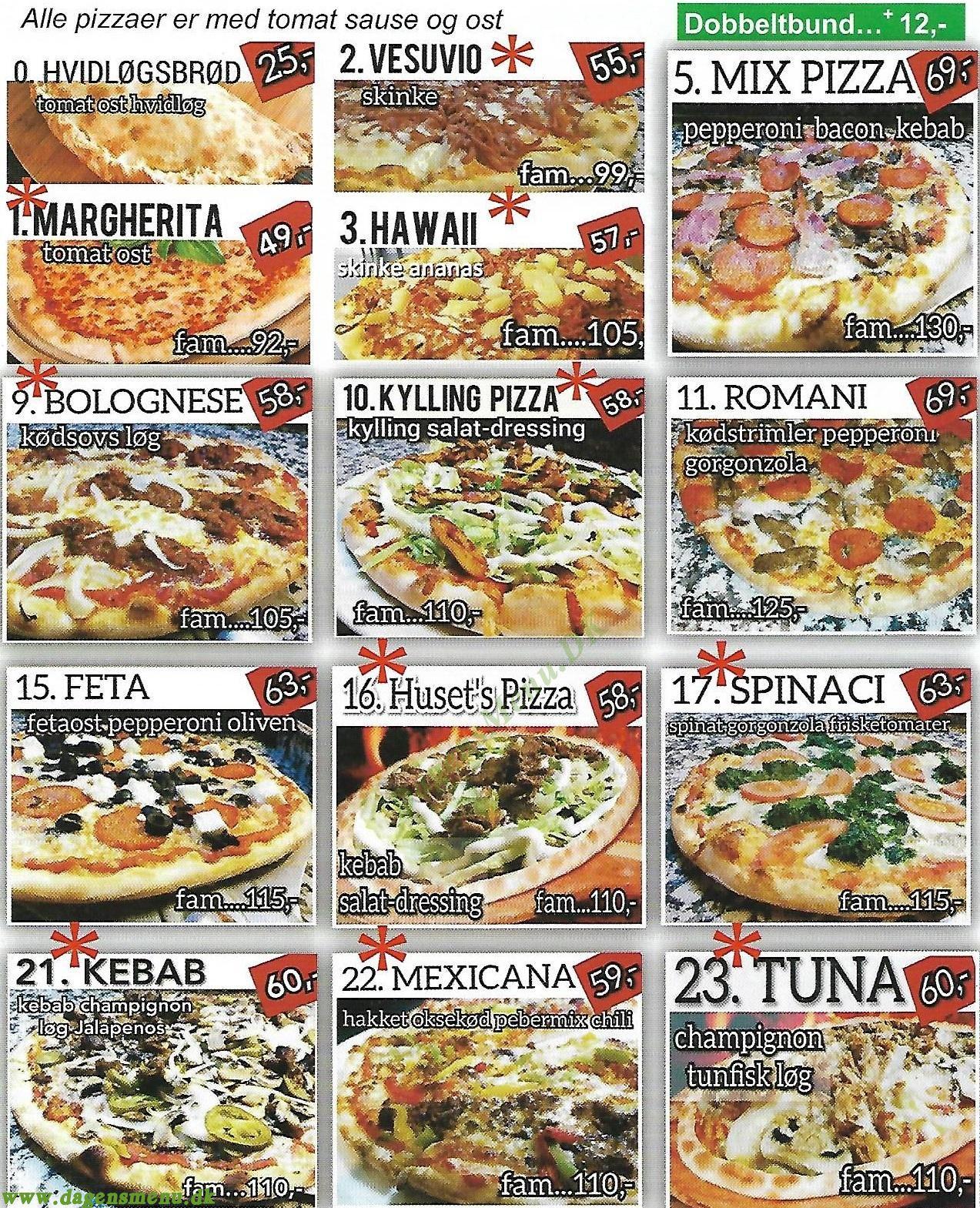 Pappas Pizza - Menukort