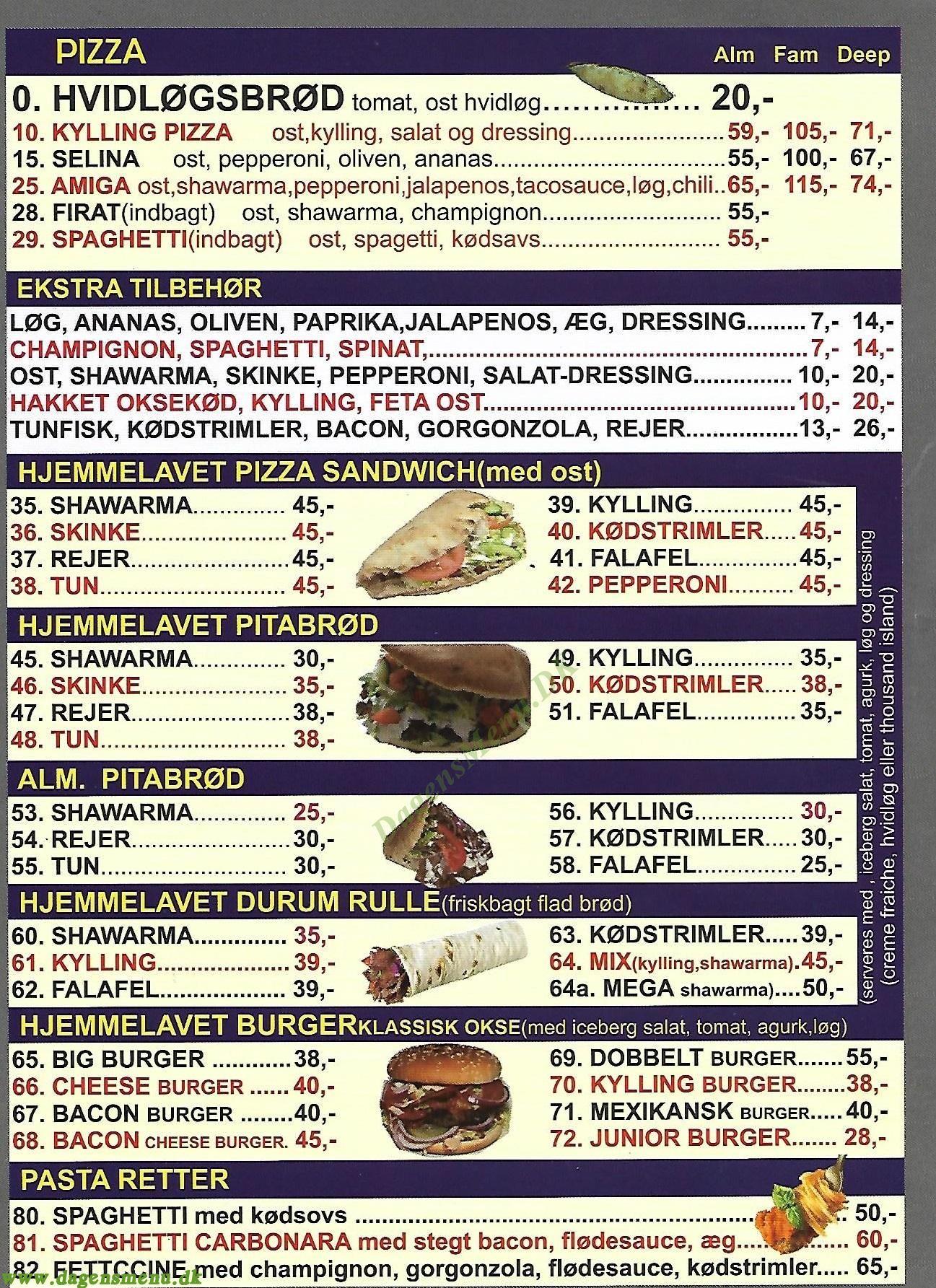 Pappa´s Pizza & Kebab - Menukort