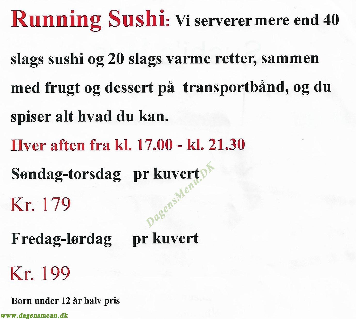 running sushi vordingborg
