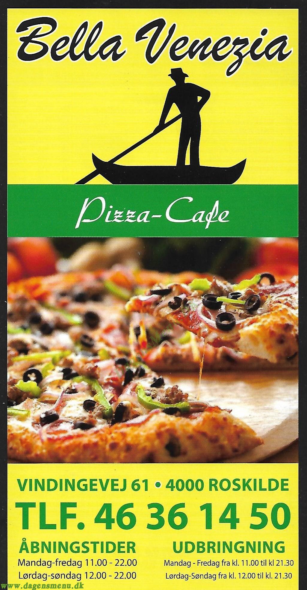 Pizza Bella Venezia - Menukort