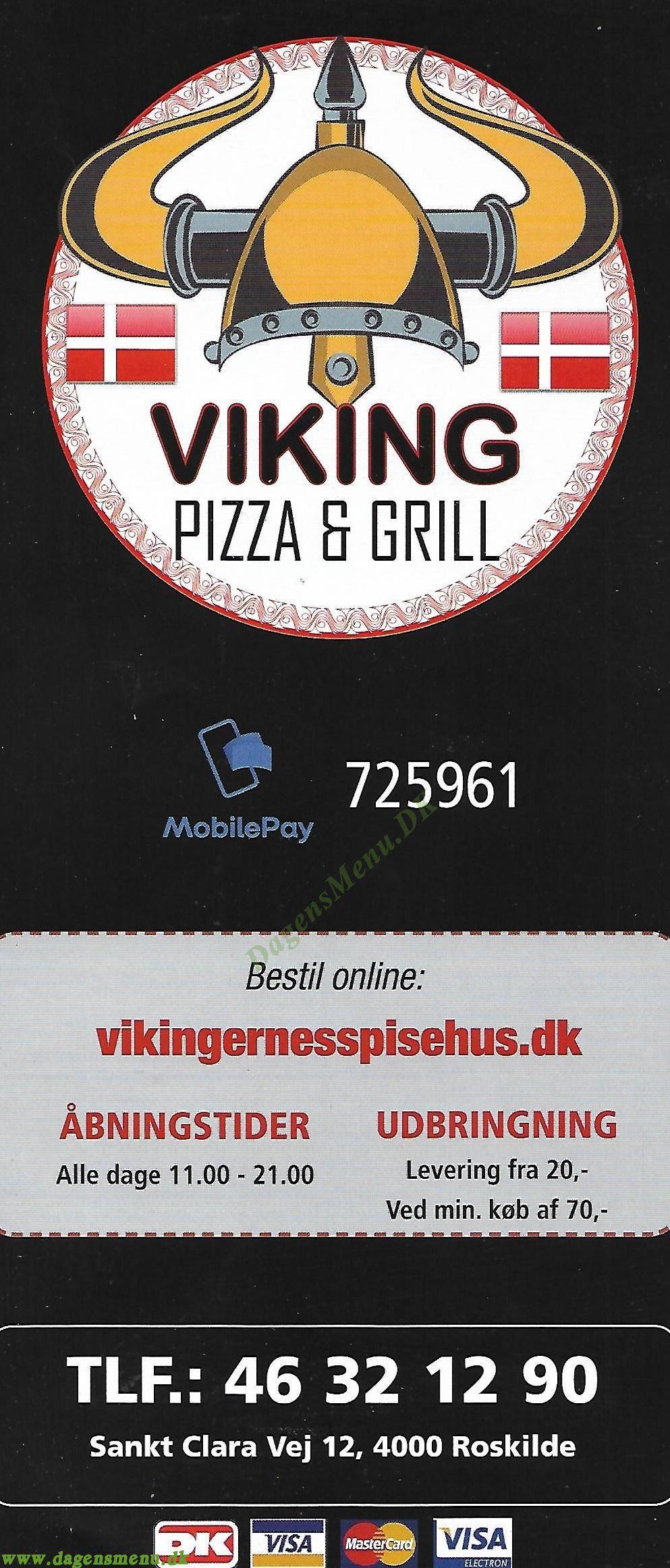 Vikinge Pizza - Menukort