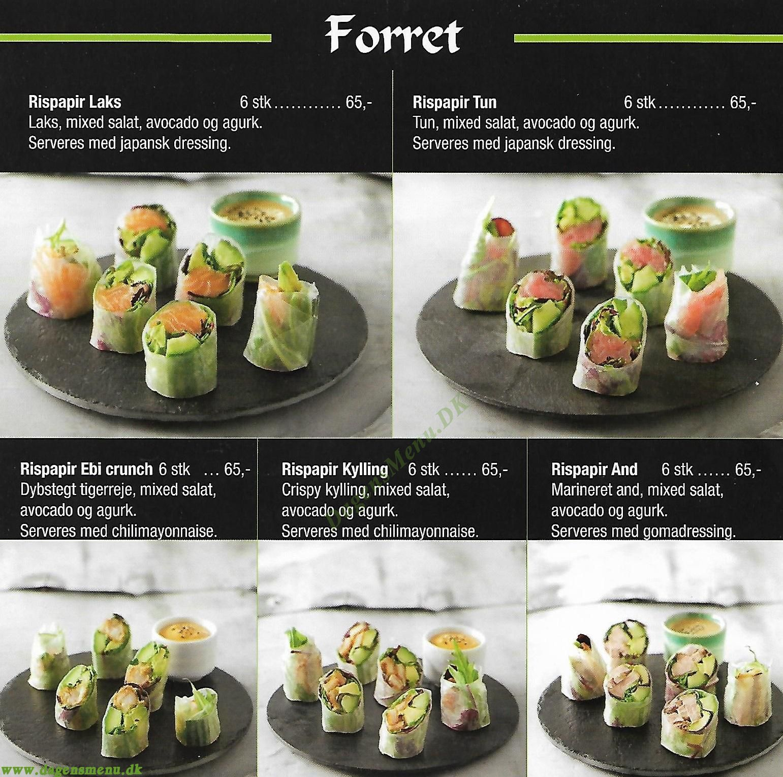 Nira Sushi - Menukort