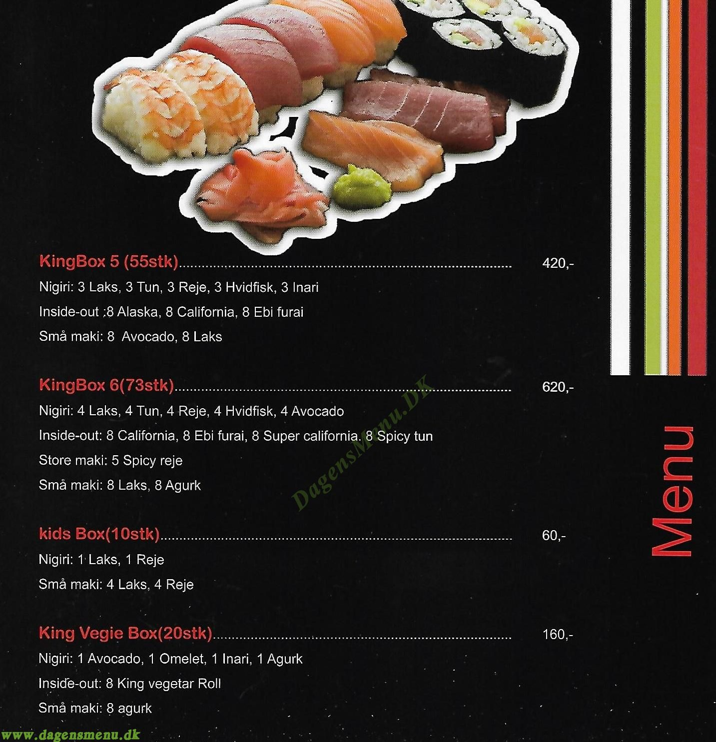 King Running Sushi & Wok - Menukort