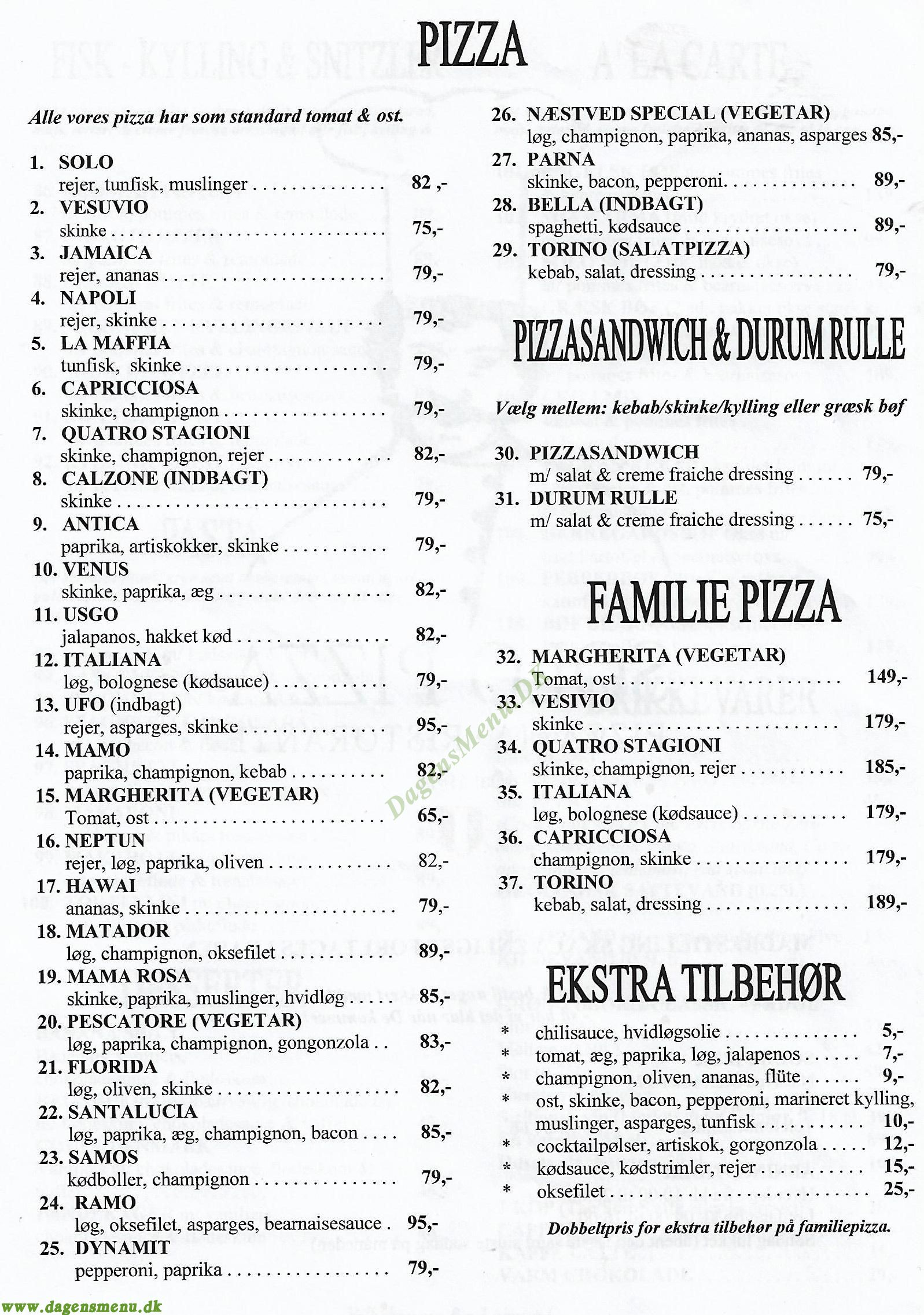 italiensk pizza næstved
