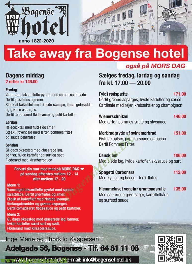 Bogense Hotel & Restaurant - Menukort