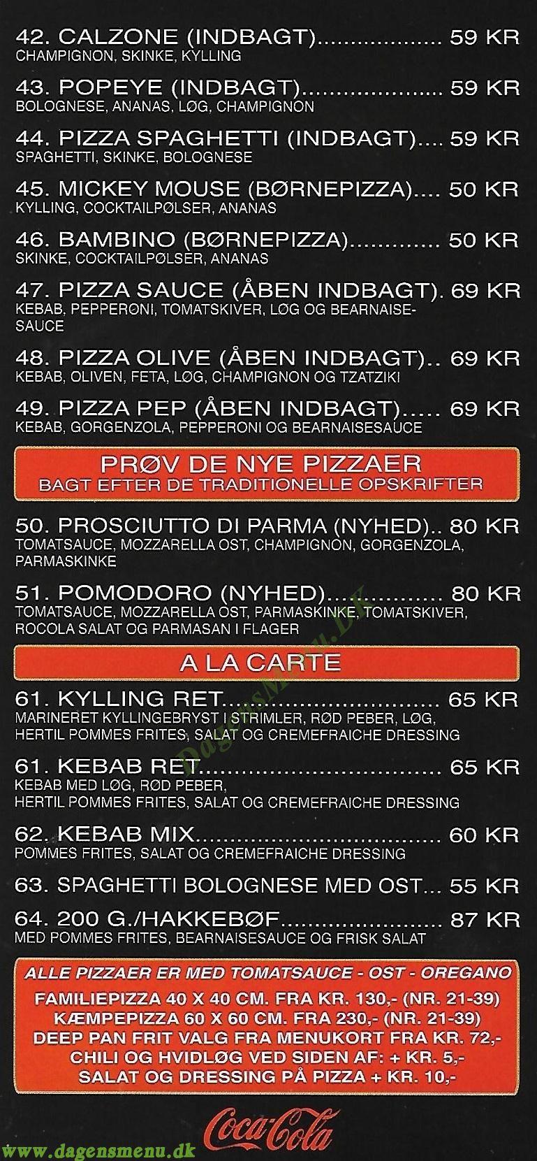 Bolbro Grill & Pizza - Menukort