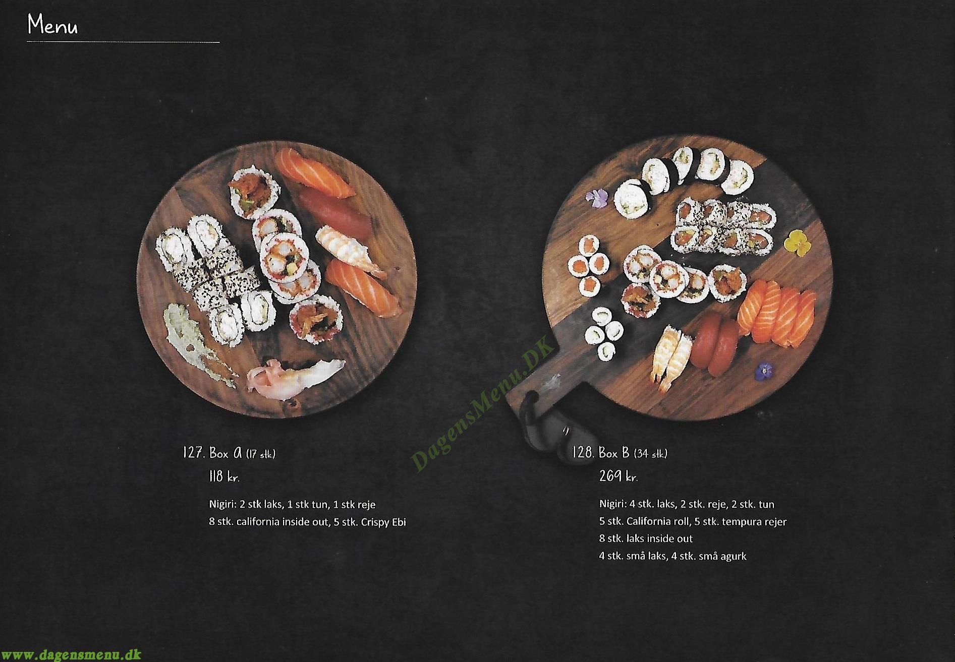 Kirin Sushi - Menukort