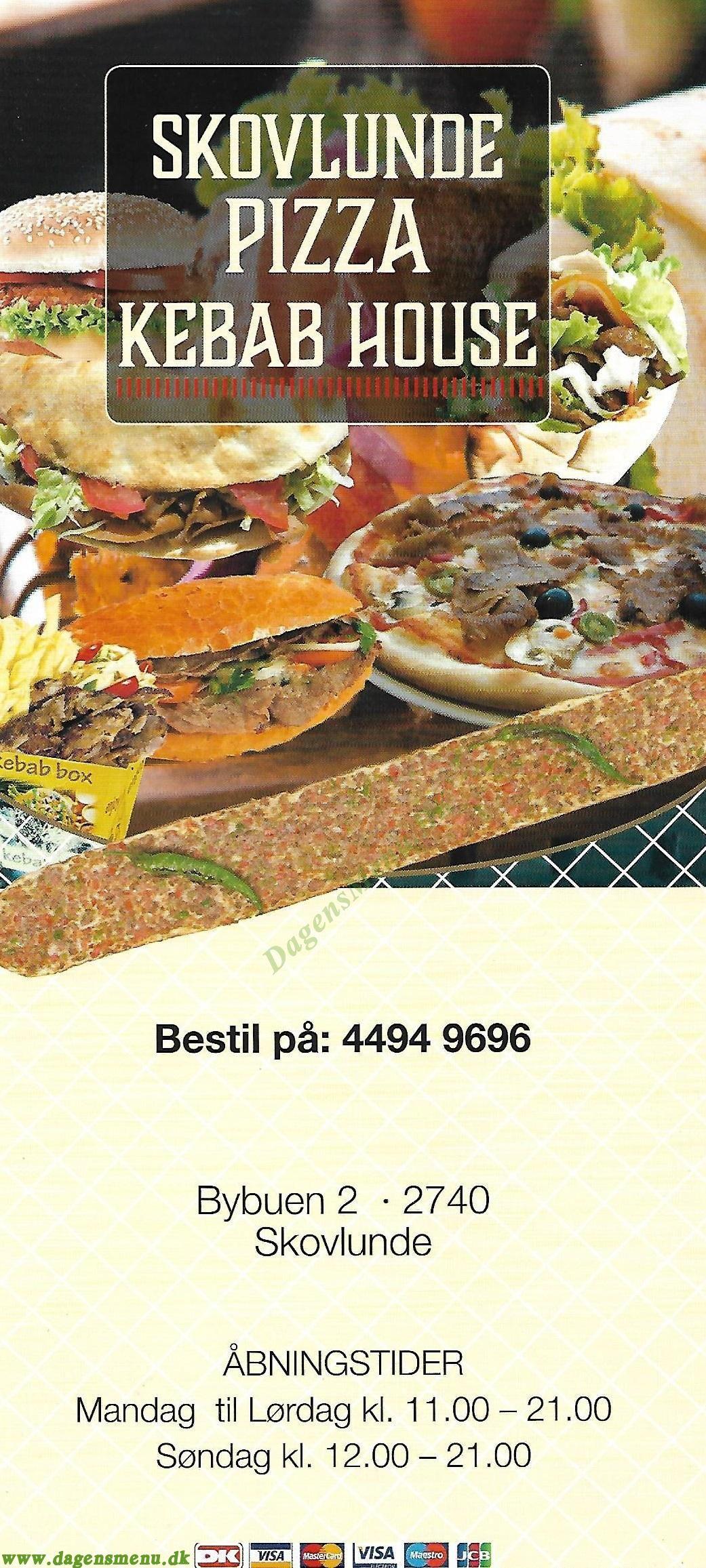 Skovlunde Kebab House - Menukort
