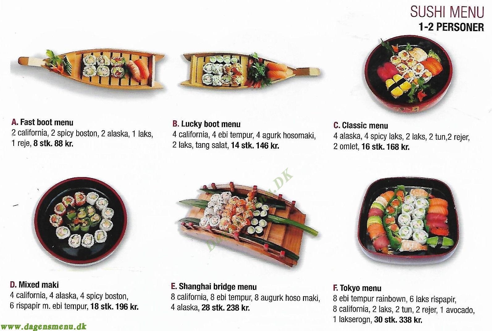 Tokyo Running Sushi - Menukort