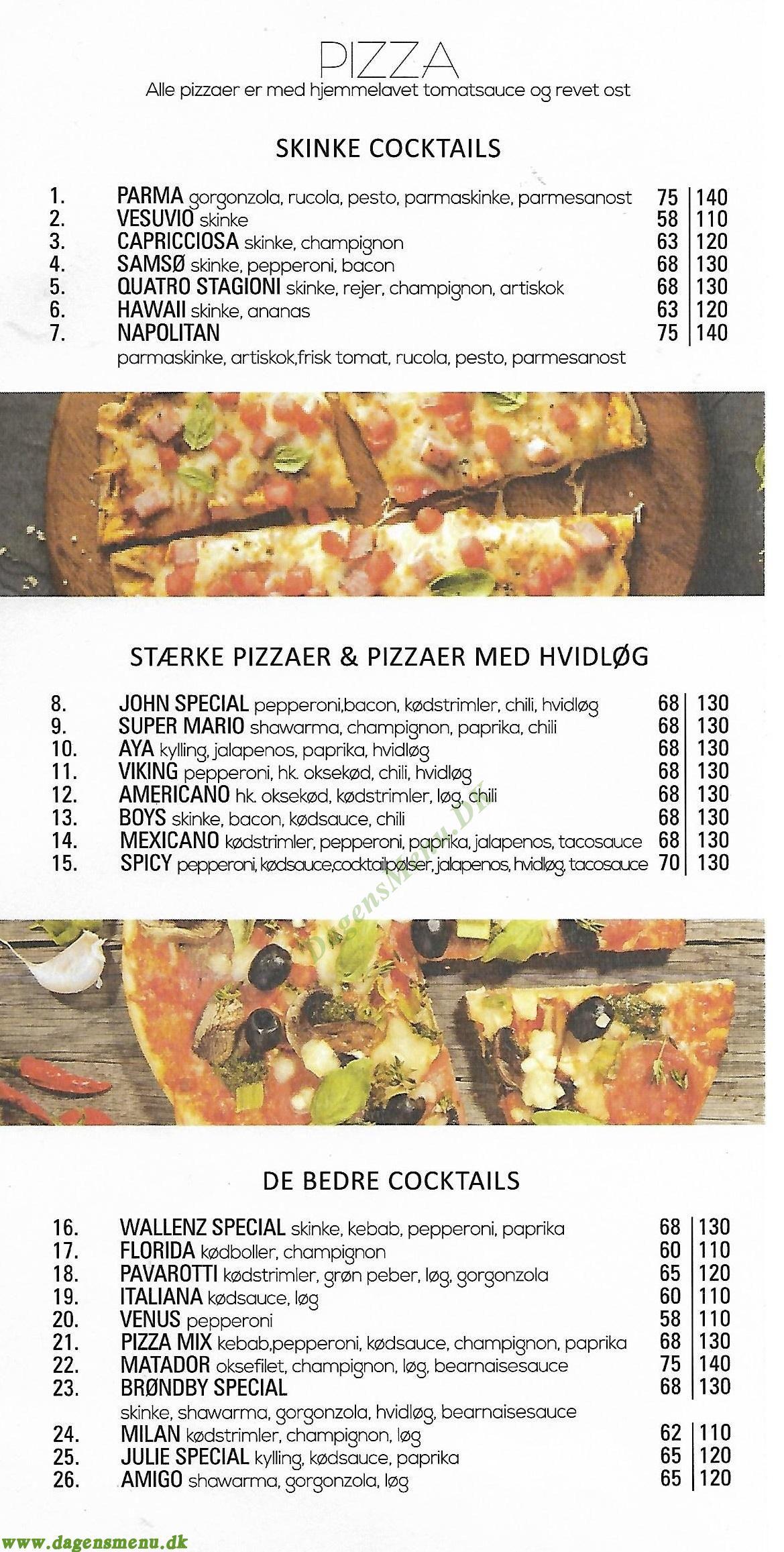 Wallenz Restaurant & Café - Menukort