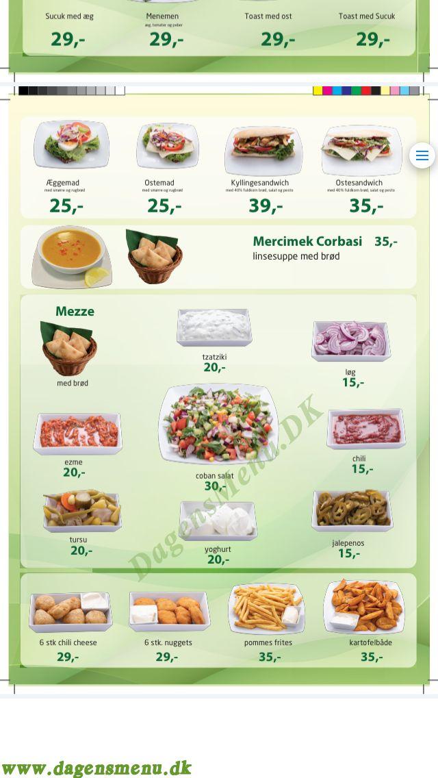 Mevlana Restaurant - Menukort