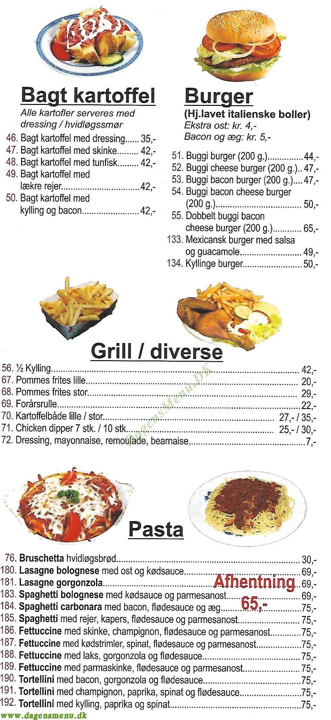 Roma Pizza - Menukort
