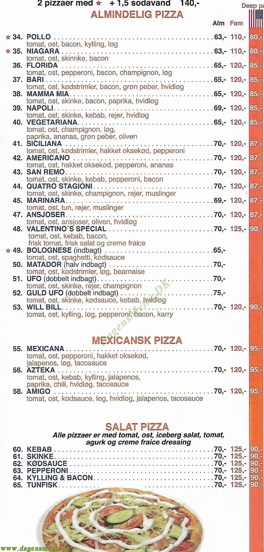 Diva Pizza & Bruger house - Menukort