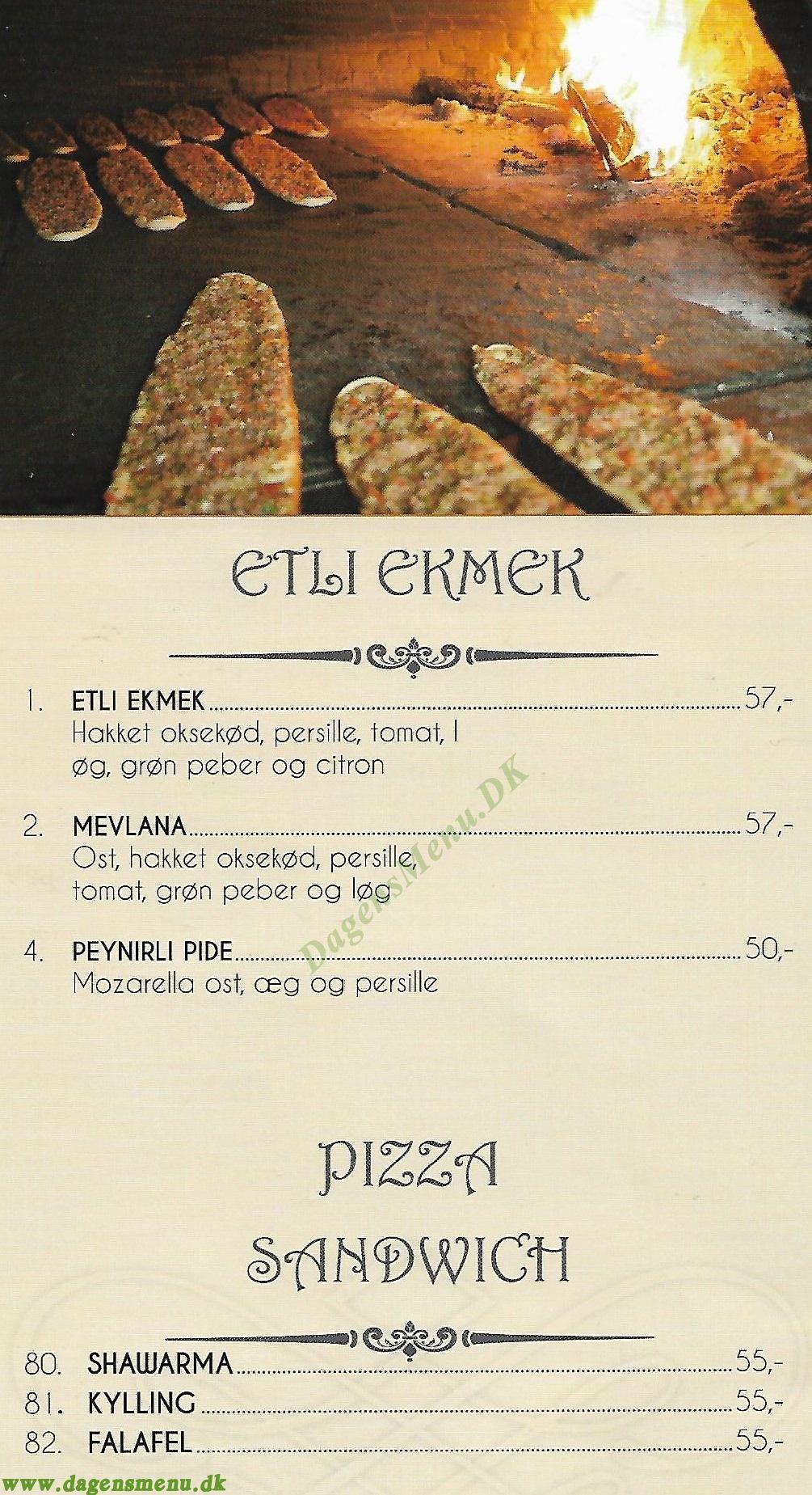 Görkem Grill - Menukort