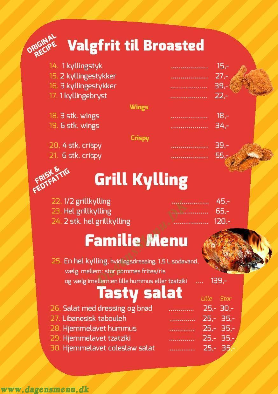 Tasty Grill - Menukort