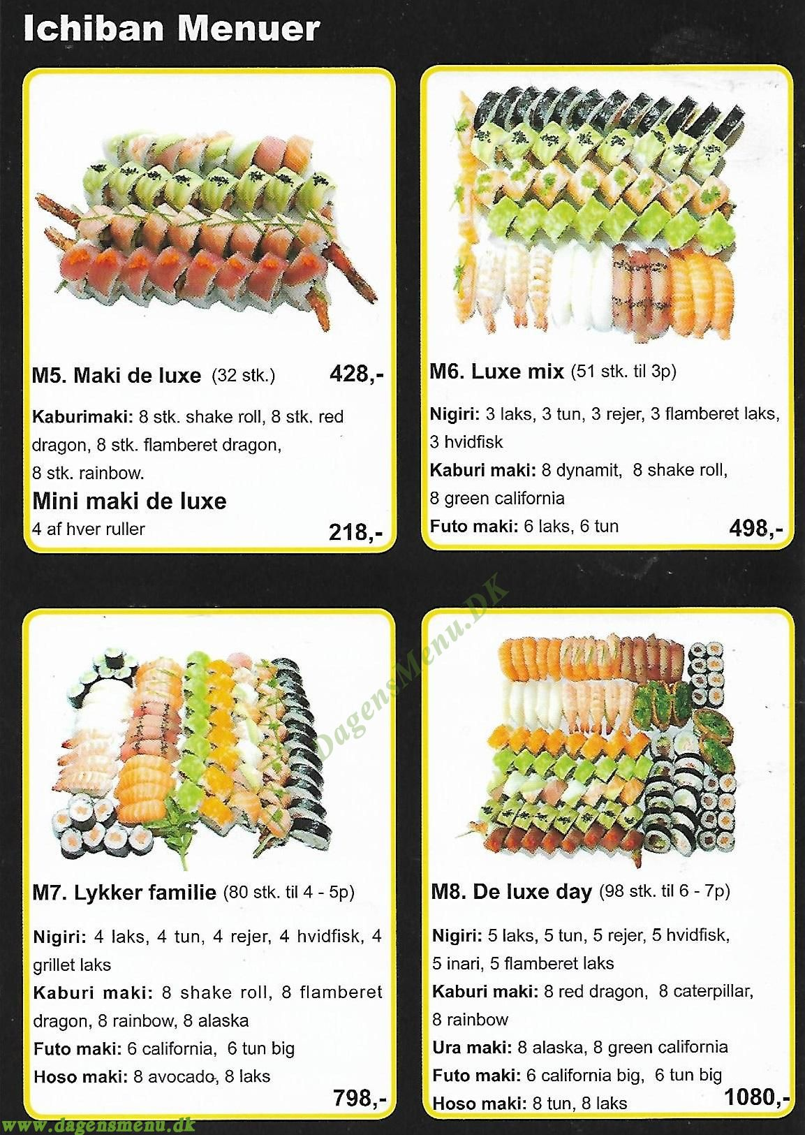 Ichiban Sushi - Menukort
