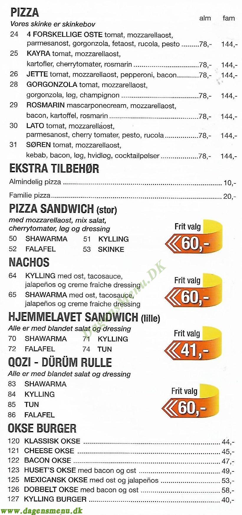Hiko Pizza - Menukort