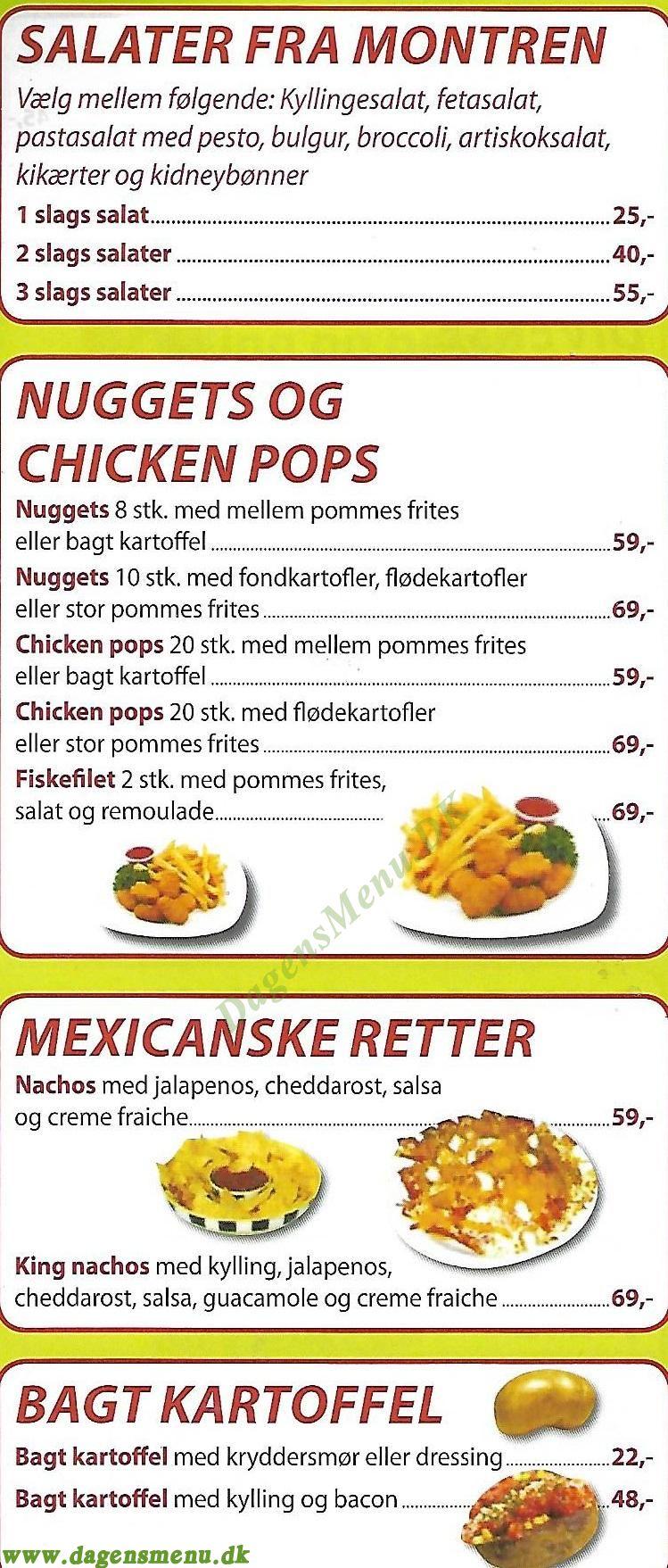 King Chicken - Menukort