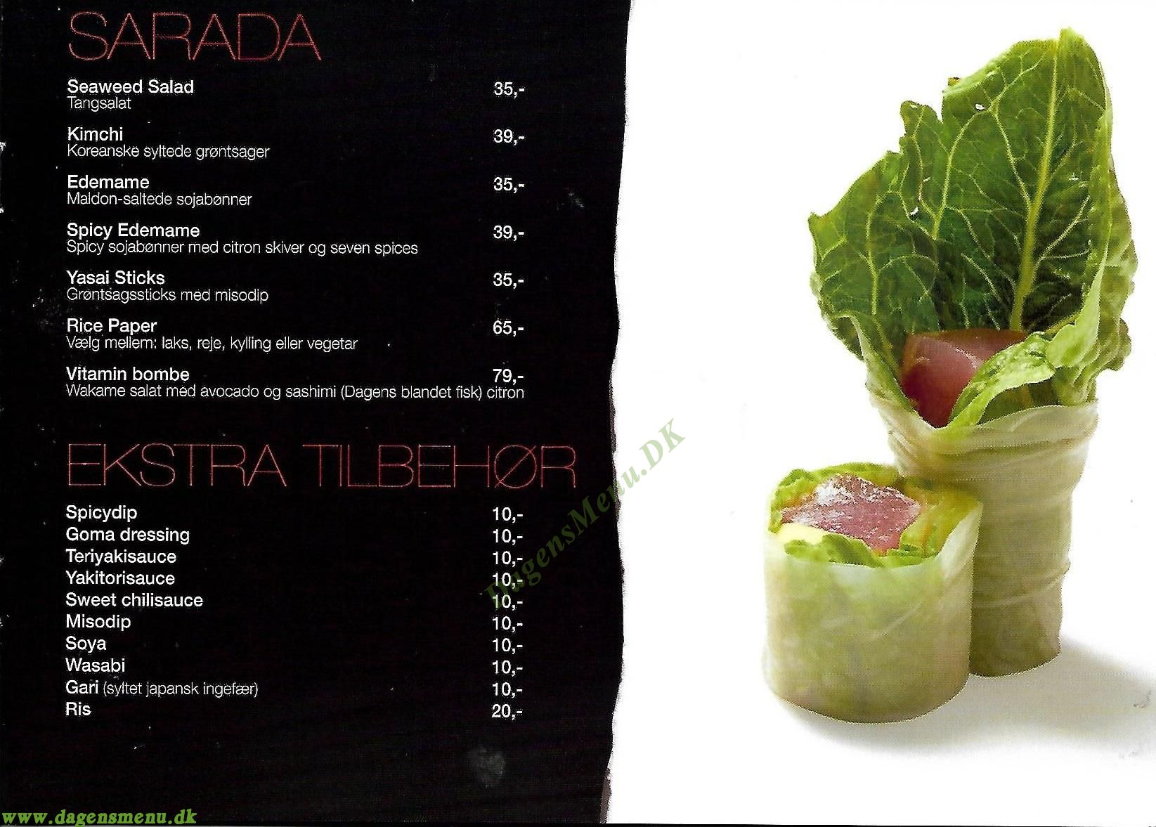 Insu Sushi & Thai - Menukort