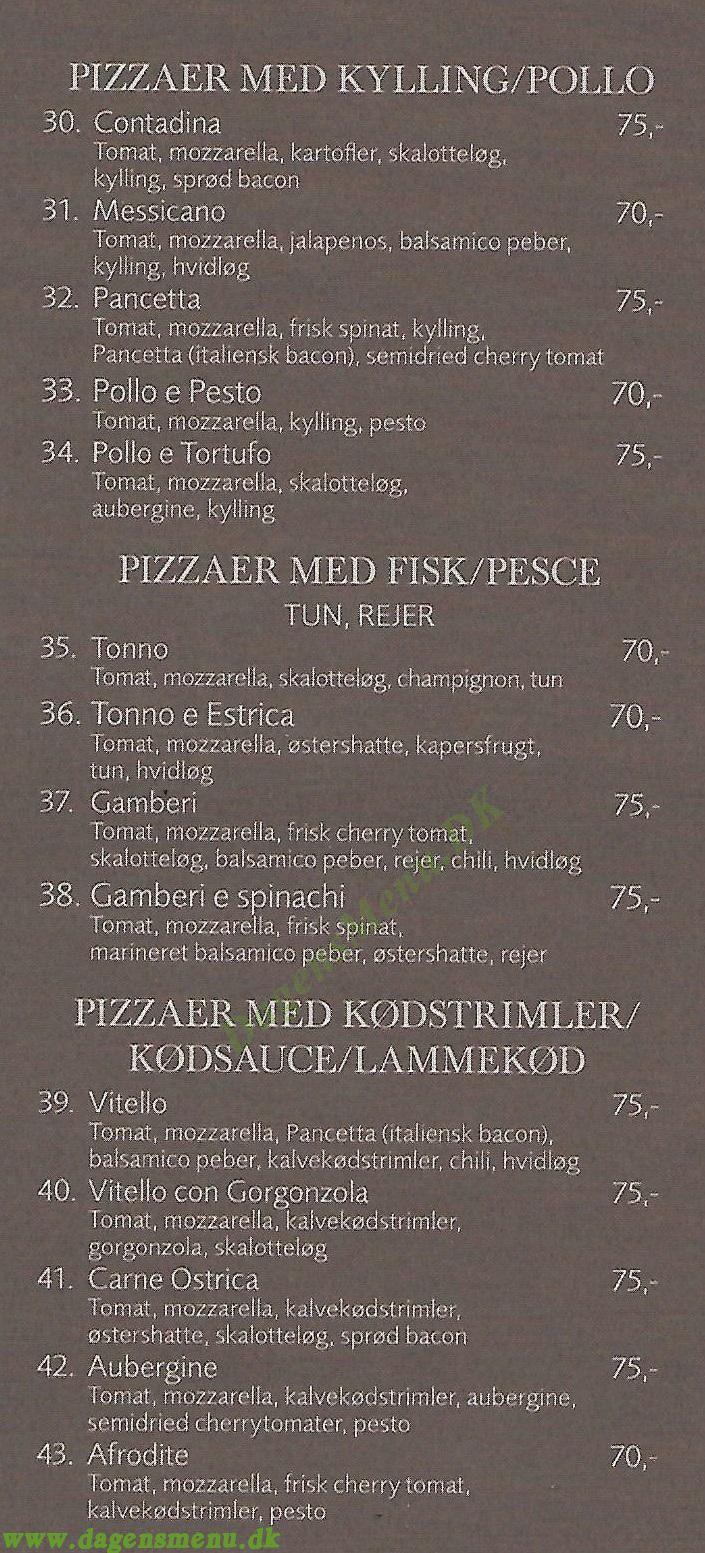 Pizze Di Napo - Menukort