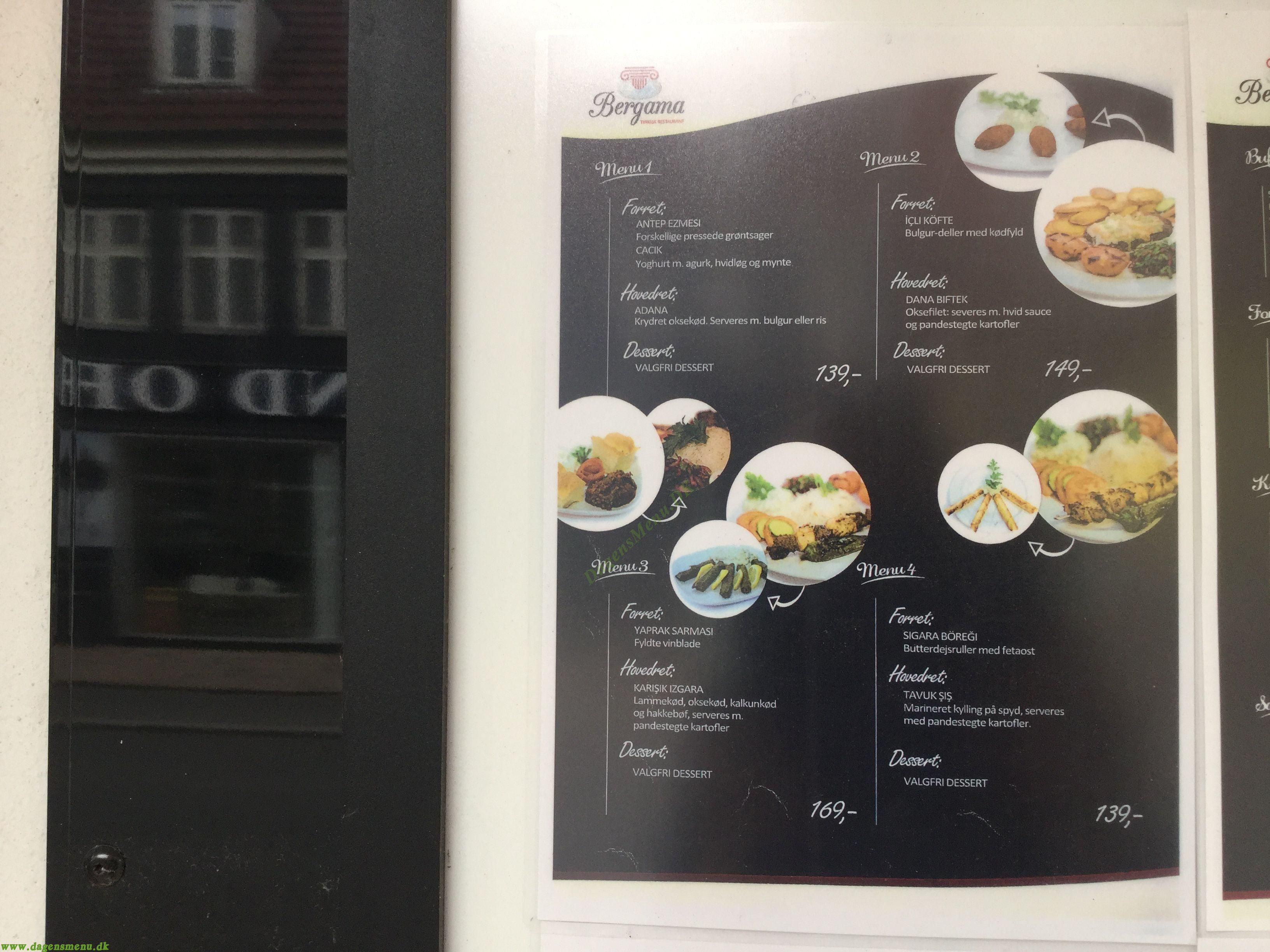 Restaurant Bergama - Menukort
