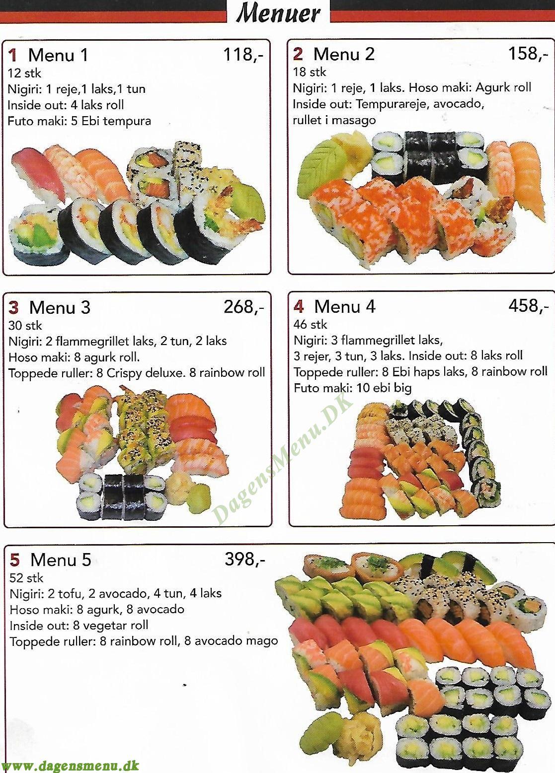 MIZUMI Running Sushi & Take Away - Menukort