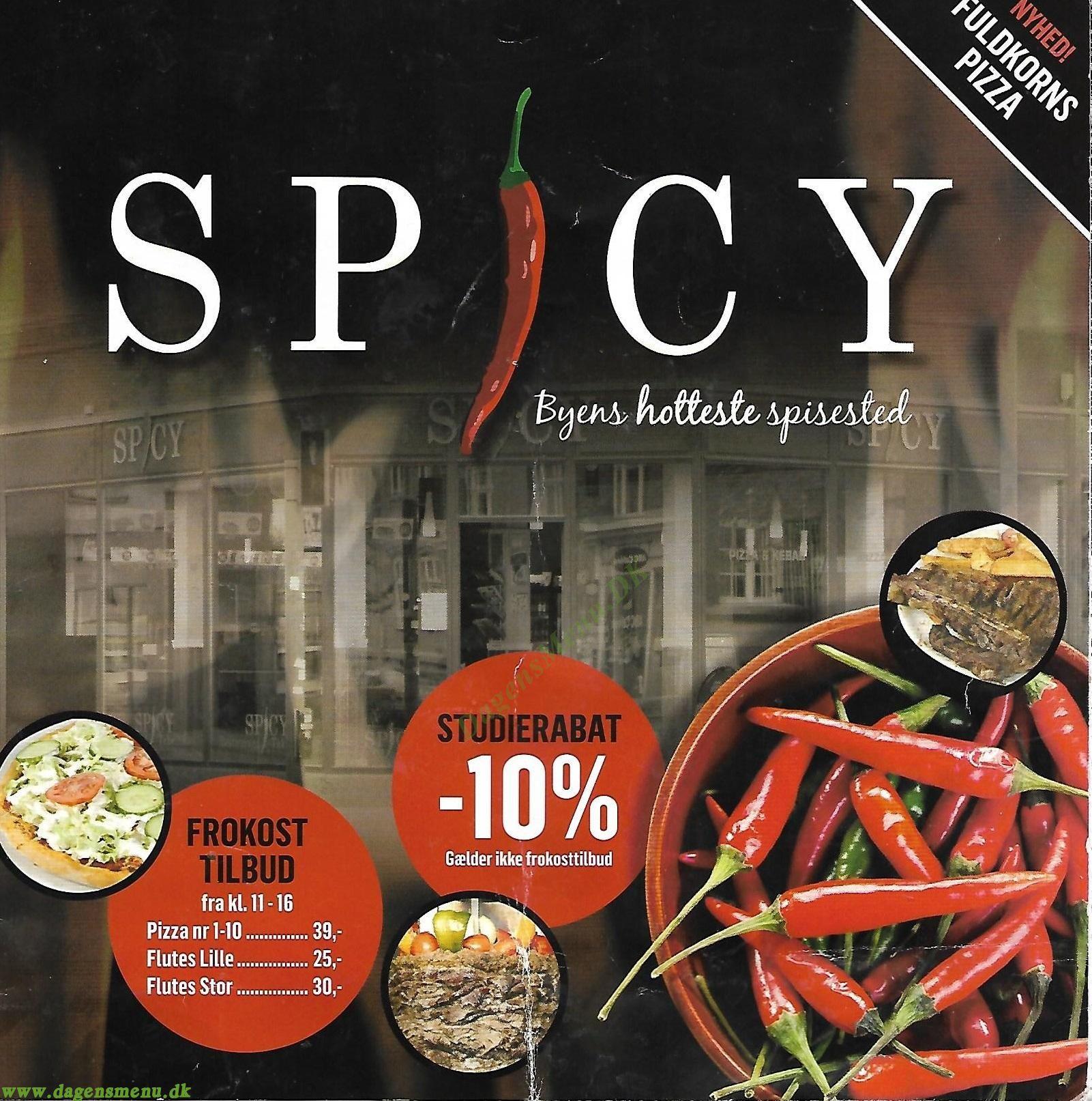 SPICY - Menukort