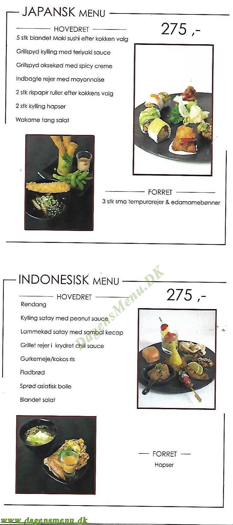 Dinis Restaurant - Menukort