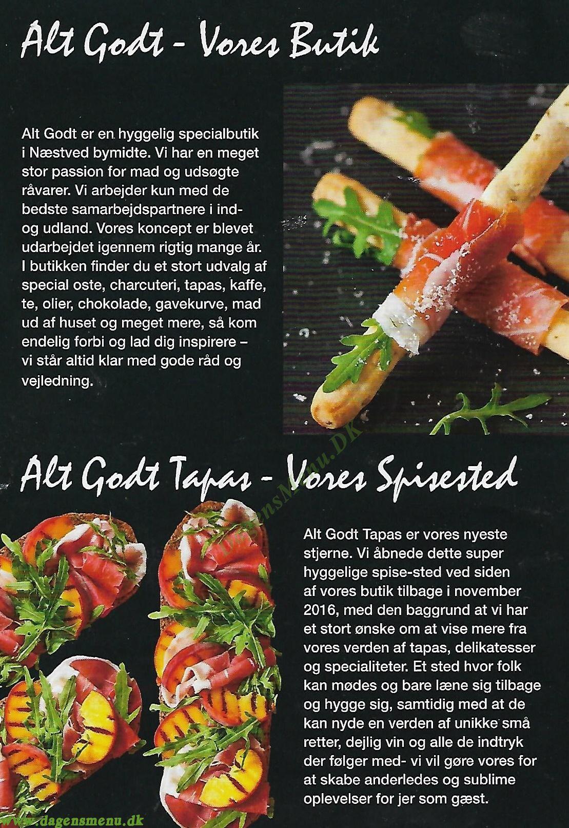 Alt Godt Tapas Restaurant - Menukort