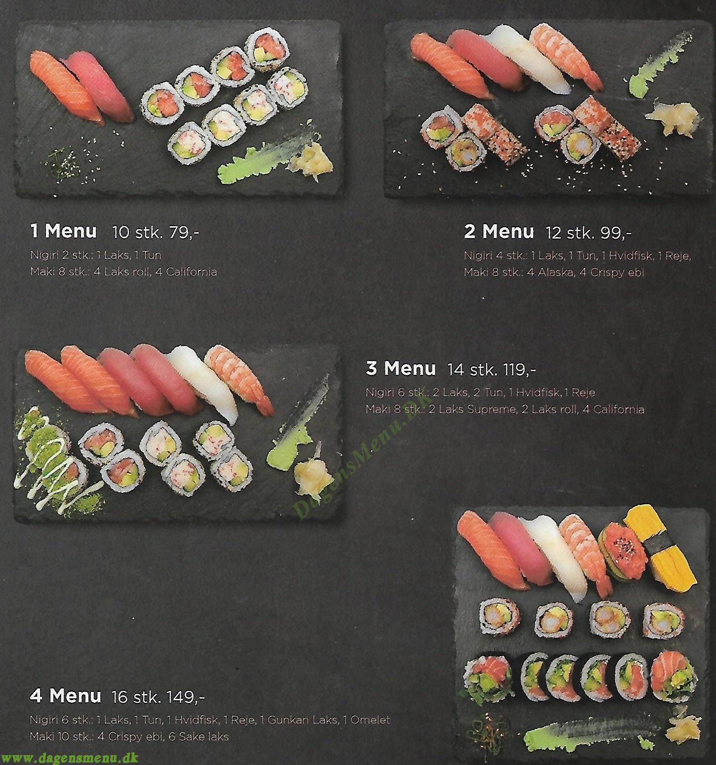 Iki Sushi - Menukort