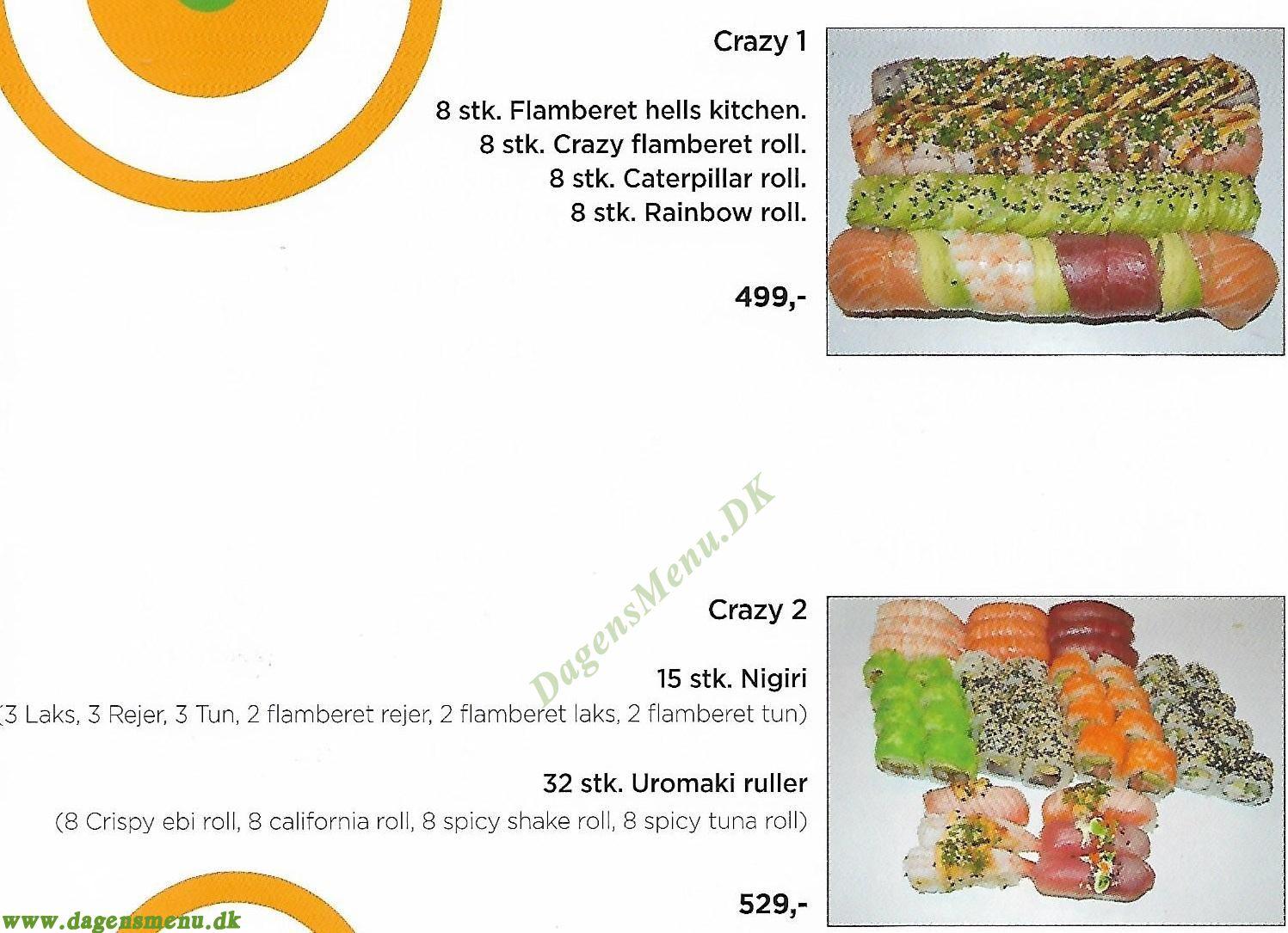 Crazy Sushi - Menukort