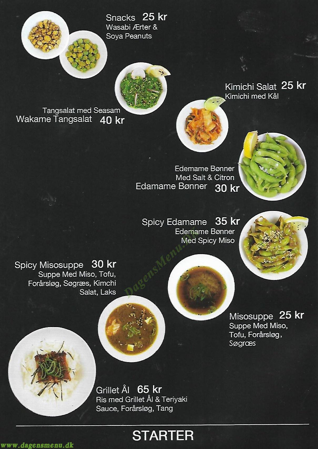 Sushi Factory - Menukort